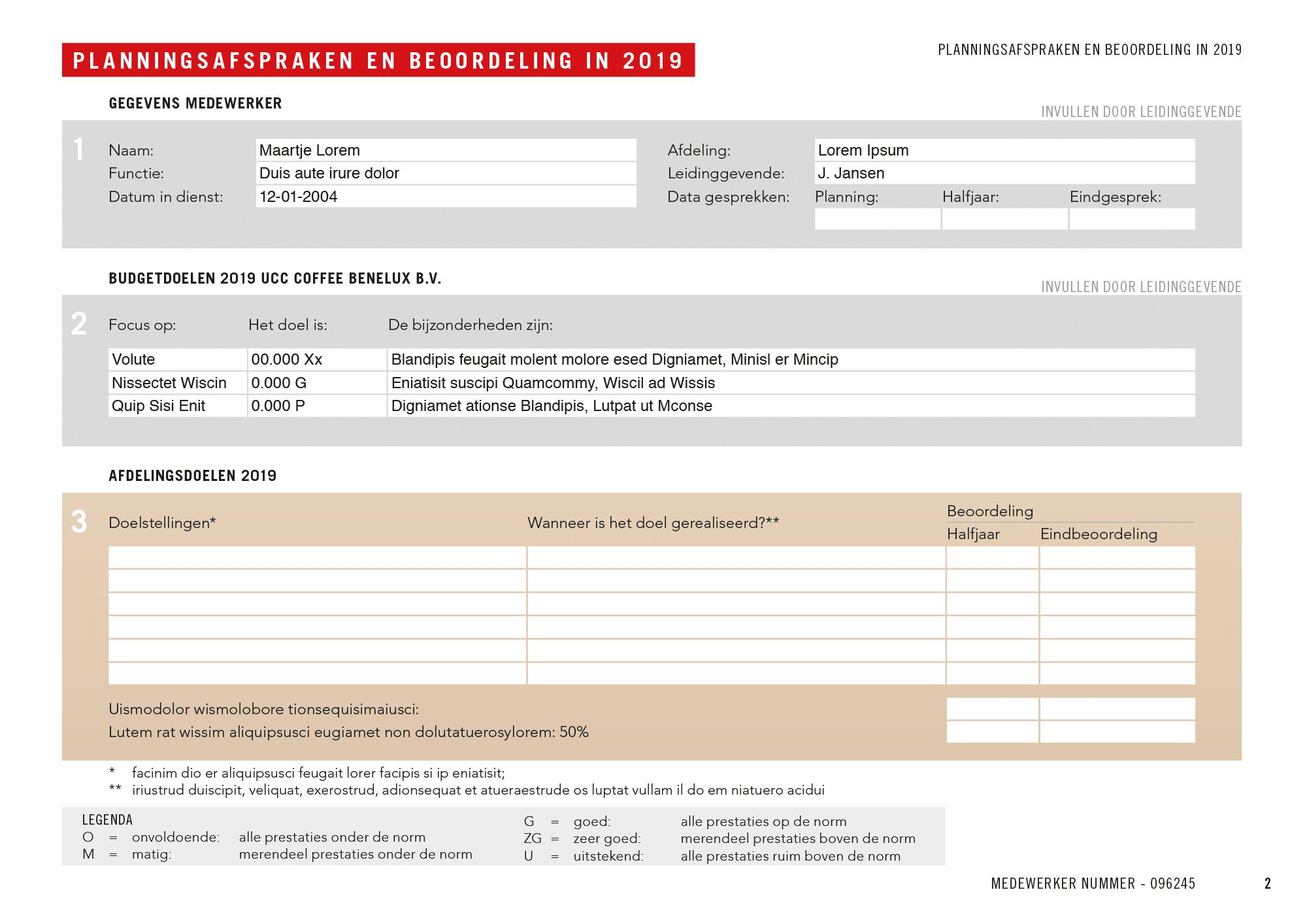 UCC Formulieren FB 2019 Lorem Ipsum 2 | 150 gepersonaliseerde invulbare pdf's voor UCC Coffee