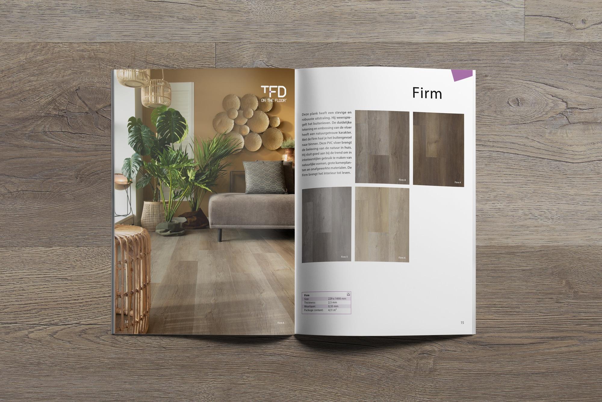brochure TFD Firm 14 15   TFD Floortile Productbrochure PVC vloeren
