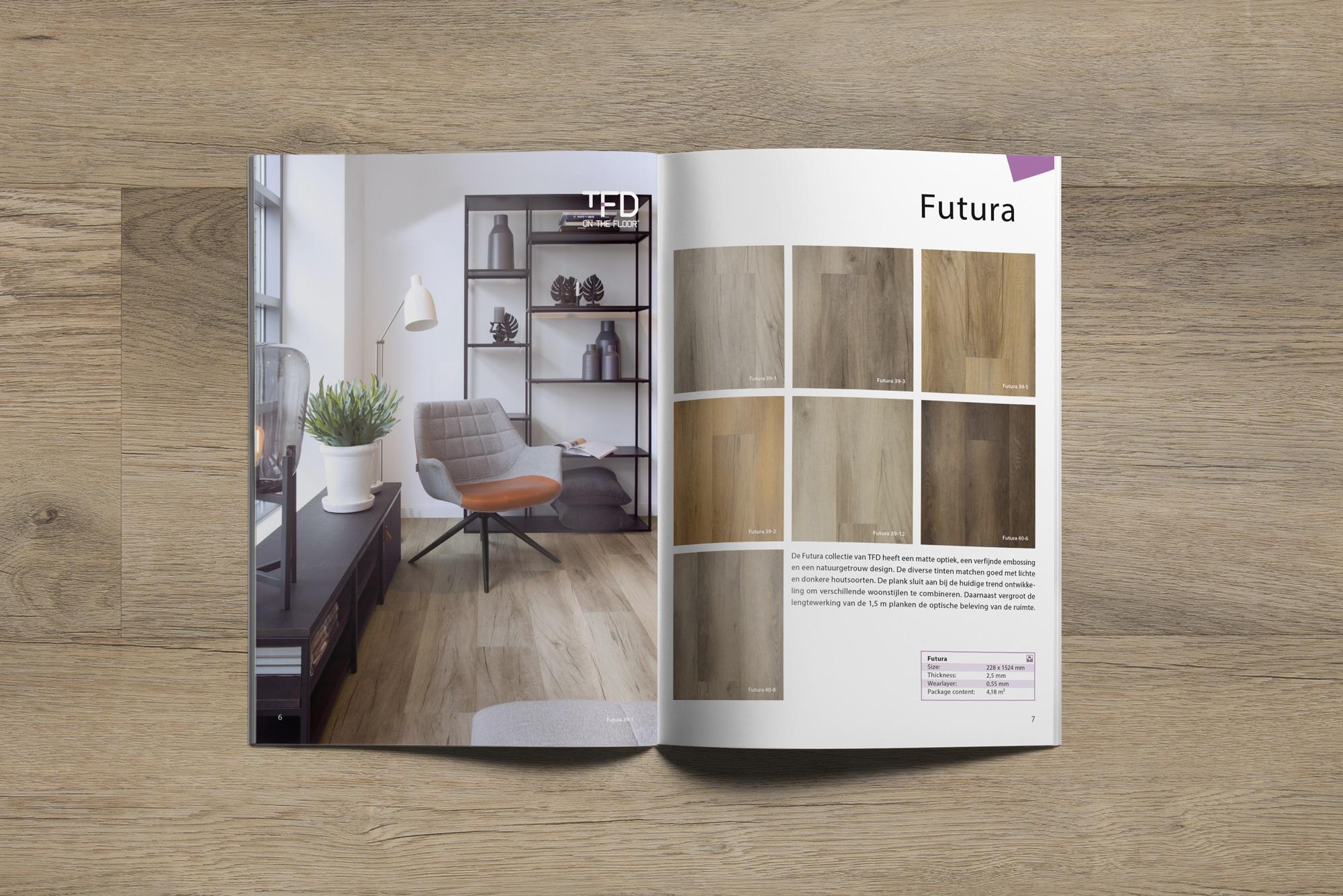 brochure TFD Futura 6 7   TFD Floortile Productbrochure PVC vloeren