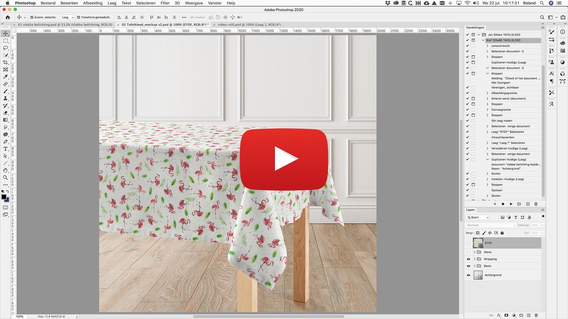 Tafelkleed video still small